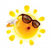 pic of hot-weather  - Summer sun feeling hot and wiping sweat - JPG