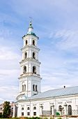 pic of blue-bell  - Bell tower Saviour cathedral against the blue sky in the city of Elabuga - JPG