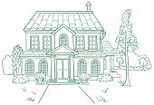 picture of bye  - Vector illustration of modern house - JPG