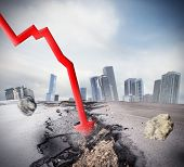picture of crisis  - Crisis as big break economic and financial - JPG