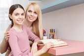 stock photo of teenagers  - Parent support - JPG