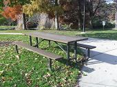Sunny Picnic Table poster