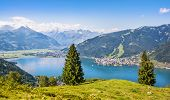 Beautiful Landscape With Alps And Zeller See In Zell Am See, Salzburger Land, Austria poster