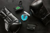 Boxer Accessories - Gloves, Bandages, Mouth Guard poster