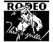 stock photo of bucking bronco  - Rodeo  - JPG