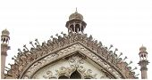 stock photo of darwaza  - Roomi gate or roomi darwaza the hall mark of lucknow - JPG