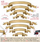 Papyrus Ribbons Curved Upwards – Two Designs By Four Sizes poster