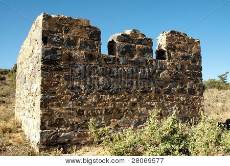 poster of Fort Bowie National Historic Site adobe stone brick walls