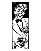 Soda Jerk 3 - Retro Clipart Illustration