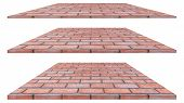 Brick Wall Isolated On White Background. Brick Wall Texture Or Brick Wall Background. Brick Wall For poster