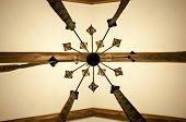 Pride Of Ceiling. Wood Beam Ceiling. Old Ceiling. Decorative Lamp Hanging From Ceiling. Classic Over poster