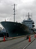 foto of labo  - portrait of german navy ship in ocean - JPG