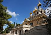 foto of church mary magdalene  - Church of Mary Magdalene in Jerusalem - JPG