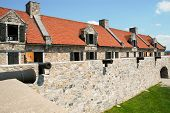 stock photo of ticonderoga  - Fort Ticonderoga walls and cannons - JPG