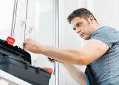 Handyman Measuring Window For Cassette Roller Blinds. poster