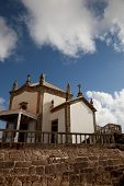 Senhora da Pedra chapel at the coast of Miramar, Gaia, Portugal