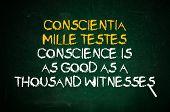 Постер, плакат: Совесть это свидетель