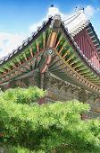 Постер, плакат: Традиционные крыши на Дворец Чхандок