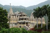 stock photo of jainism  - Chaumukha Mandir the main jain temple at Ranakpur India - JPG