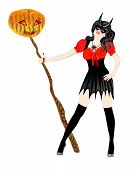 picture of impaler  - girl dressed as a witch  - JPG