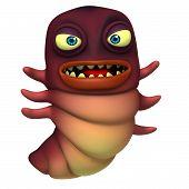 image of maggot  - 3 d cartoon cute red worm toy - JPG