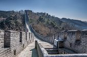 picture of qin dynasty  - Great Wall at Mutianyu near Beijing China - JPG
