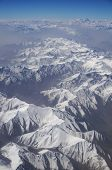 picture of karakoram  - aerial view of Karakoram mountains of Sinkiang China you can see frozen peaks and deep valley - JPG