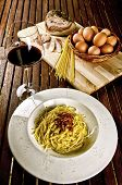 image of carbonara  - Italian traditional recipe - JPG