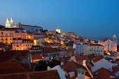 Lissabon City Lights Alfama-Panoramablick