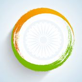 foto of ashoka  - Creative Illustration for Indian Independence Day with tricolors - JPG