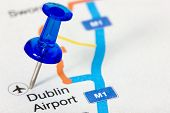 Pushpin  Showing Dublin Airport Location