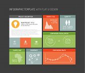 Vector platte user interface (UI) infographic sjabloon / ontwerp - dark versie