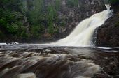 stock photo of caribou  - Caribou Falls of the Caribou Rver in Northen Minnesota - JPG
