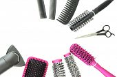 stock photo of bristle brush  - Comb brushes - JPG