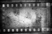 Film negatives frame, copy space