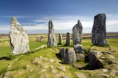 pic of megaliths  - Callanish standing stone circle - JPG