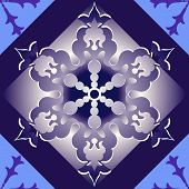 Abstract christmas seamless lilas background poster