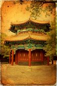 image of lamas  - Beautiful view of the Lama temple in Beijing China - JPG