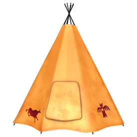 pic of tipi  - 3D digital render of a native American teepee isolated on white background - JPG