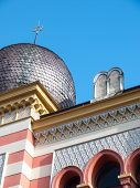 pic of synagogue  - Dome of the synagogue with the Ten Commandments and the Jewish star - JPG