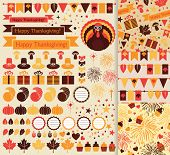 foto of happy thanksgiving  - Happy Thanksgiving beautiful clip art vector illustration - JPG