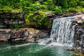 foto of alabama  - Waterfall at Little River Canyon National Preserve in northern Alabama - JPG