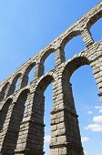 image of aqueduct  - view of the aqueduct of Segovia - JPG