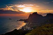 picture of gneiss  - Sunset in Sao Conrado Beach in Rio de Janeiro - JPG
