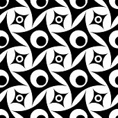 picture of rhombus  - Seamless Rhombus Pattern in Black and White - JPG