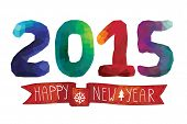 stock photo of trapezoid  - Happy New year greeting card - JPG