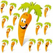 foto of rogue  - carrot cartoon with many expressions  - JPG