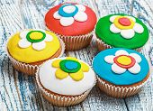 Cupcakes Covered With Mastic poster