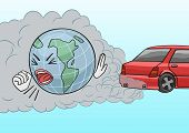 image of choke  - The car is one of the main polluters of the Earth - JPG