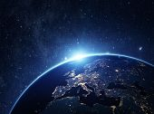 Постер, плакат: Planet Earth From The Space At Night